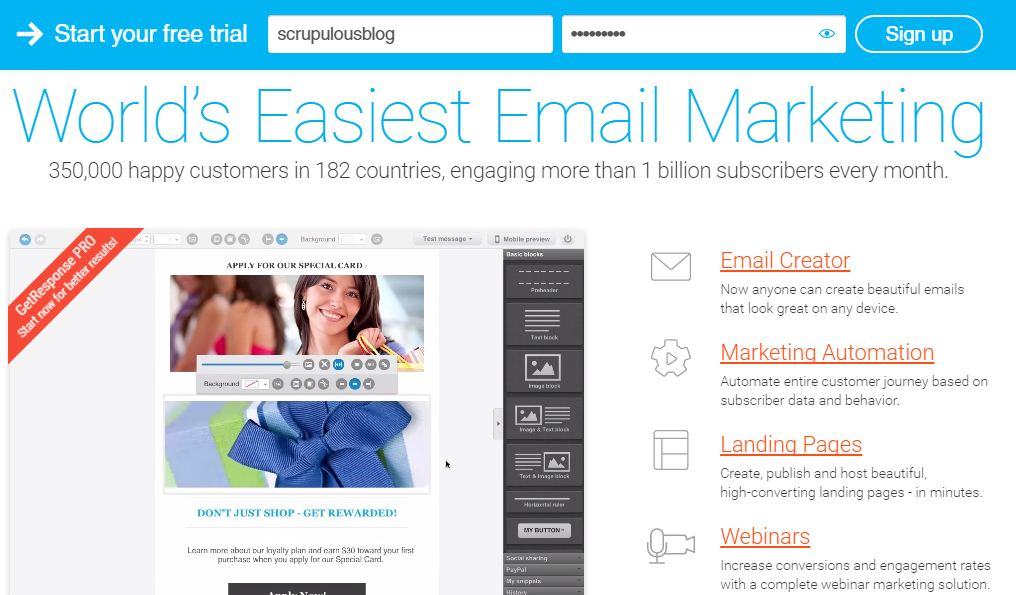 GetResponse Email service