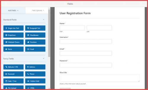 wpforms-custom login/registration