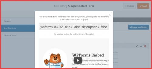 wpform shortcode