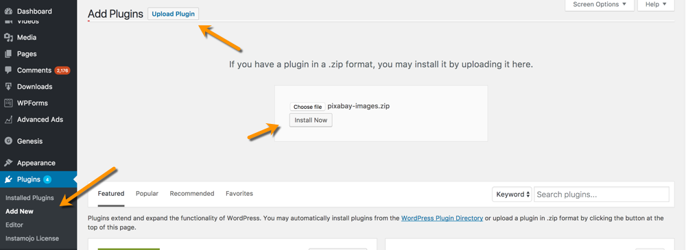 Upload-Plugin-wordpress