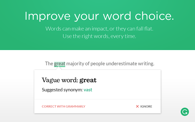 Improve your word choice